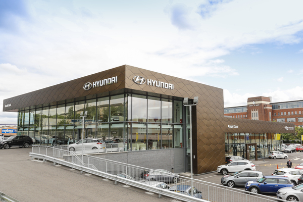 Arnold Clark Hyundai Car Showroom Project Martin Contracts Ni Ltd